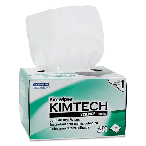 Kimwipes Delicate Task Wipers, 1-ply, 4 2-5 X 8 2-5, 280-box, 30 Boxes-carton