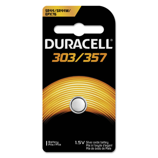 Duracell Button Cell Silver Oxide Calculator-watch Battery, 303-357, 1.5v, 6-box Batteries