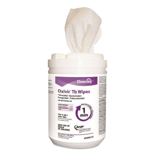 Oxivir Tb Disinfectant Wipes, 6 X 7, White, 160-canister, 12 Canisters-carton