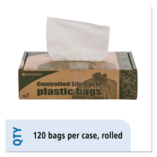 Controlled Life Cycle Trash Garbage Bag, 13gal, .70 Mil, 24x30, White, 120-box