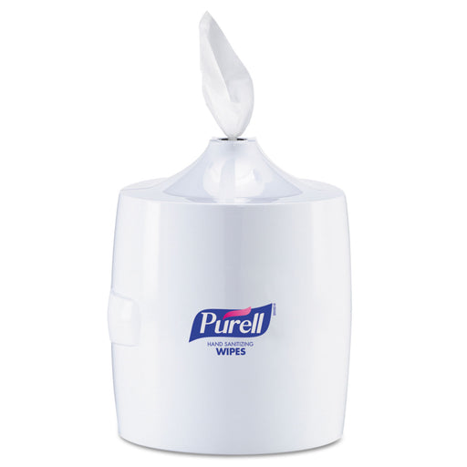 Hand Sanitizer Wipes Wall Mount Dispenser, 1200-1500 Wipe Capacity, White