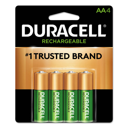 Duracell Rechargeable Nimh Batteries With Duralock Power Preserve Technology, Aa, 4-pack