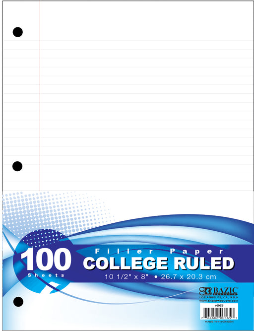 Bazic Filler Paper College Ruled - 100 Sheets Case Pack 36-buy Bazic Filler Paper College Ruled - 100 Sheets Case Pack 36-Bazic Filler Paper College Ruled - 100 Sheets Case Pack 36 near me-Bazic Filler Paper College Ruled - 100 Sheets Case Pack 36 walmart-best place to buy Bazic Filler Paper College Ruled - 100 Sheets Case Pack 36-grocery delivery-subscription boxes-grocery delivery near me-grocery delivery service-best subscription boxes