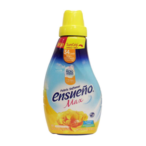 Ensueno Max Fabric Softener, Summer Fresh, 34 Loads, H.e. Forumla, 45 Fl Oz