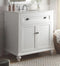 "34"" Cottage look White Glennville Bathroom Sink Vanity & mirror  Model CF-28667W-MIR - Chans Furniture - 3"