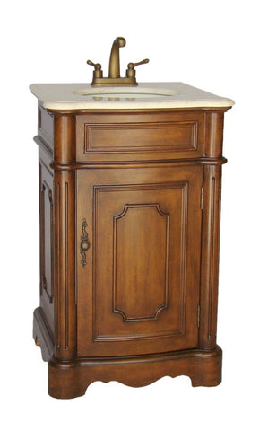 "21"" Petite Powder Room Teega Bathroom Sink Vanity CF-3006M-TK - Chans Furniture"