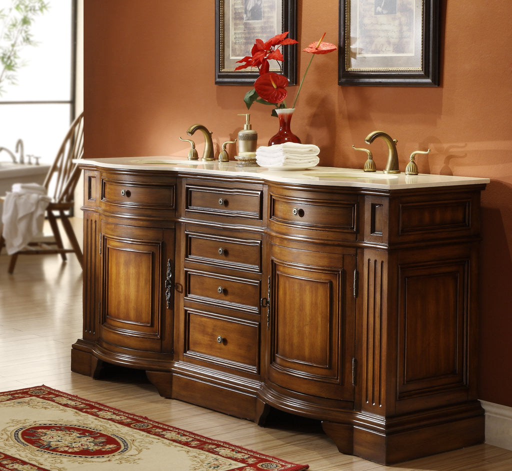 72 Old Fashion Style Double Sink Kleinburg Bathroom Vanity 33130m
