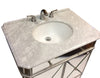 "32"" Benton Collection Mirror Reflection Austell Bathroom Sink Vanity Model # 505RA  Silver leaf finish"