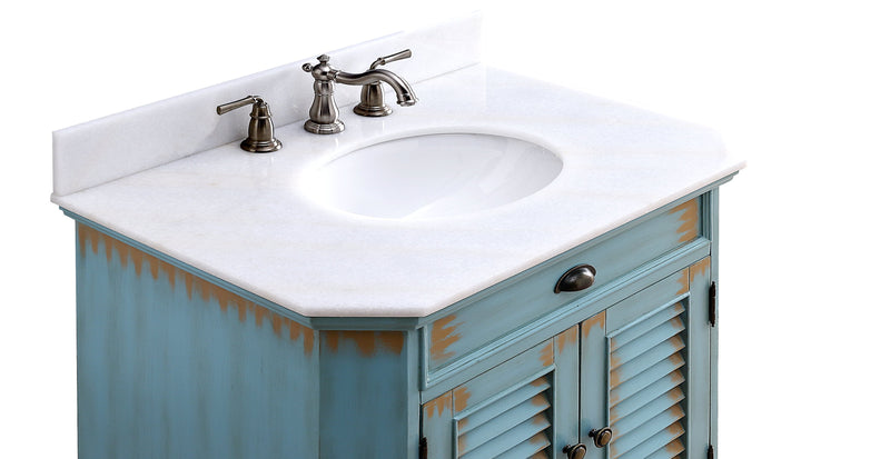 "32"" Benton Collection Cottage Style Abbeville Bathroom Sink Vanity - CF-47884BU"