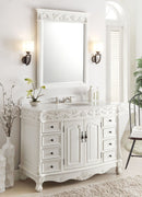 "48"" Antique White Florence Vanity & Mirror Set model"