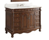 "48"" Classic Style Florence Bathroom Sink Vanity model # BC-036W-TK-48 - Chans Furniture - 2"