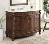 "48"" Classic Style Florence Bathroom Sink Vanity model # BC-036W-TK-48 - Chans Furniture - 1"