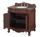 "32"" Traditional style cream marble Fiesta Bathroom Sink Vanity - CF-2873SB-TK"