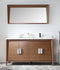 "60"" Larvotto Light Wheat Contemporary Double Sink Bathroom Vanity - CL-22WV60-QT"