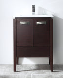 "24"" Tennant Brand Adagio Wenge Finish Bathroom Sink Vanity - CL-409WE24-ZI"