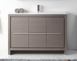 "48"" Tennant Brand VIARA Modern Style Vanity - Bathroom Sink Vanity in Gray Oak Finish   -  CL10-GO40-ZI"