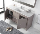 "60"" Tennant Brand VIARA Modern Style Bathroom Sink Vanity wit Quartz counter top  -  CL10-GO60-QT  Gray Oak Finish"