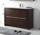 "48"" Tennant Brand VIARA Modern Style Vanity - Bathroom Sink Vanity in Espresso Finish   -  CL10-WE48-ZI"
