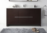 "60"" Tennant Brand VIARA Modern Style Bathroom Sink Vanity wit Quartz counter top  -  CL10-WE60-QT  Espresso"
