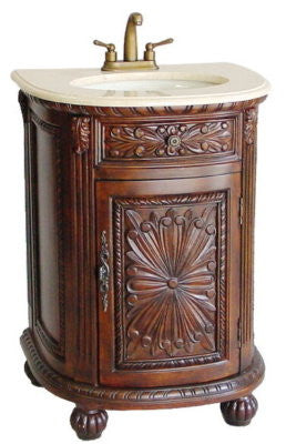 "24"" Intricate Detail Charito Bathroom Sink Vanity model # Q083M - Chans Furniture"