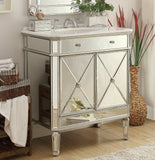 "32"" Mirror Reflection Austell Bathroom Sink Vanity Model # 5105SC  Silver leaf finish - Chans Furniture - 1"