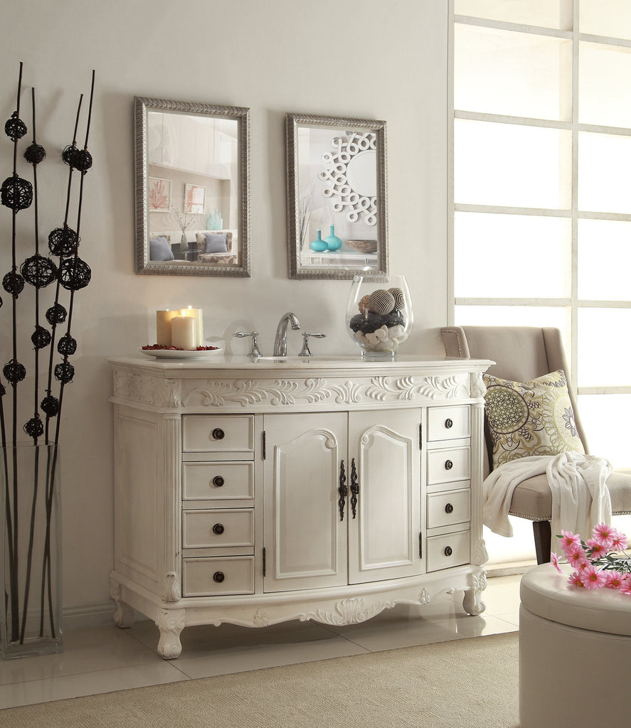 48 Benton Collection Classic Style Antique White Florence