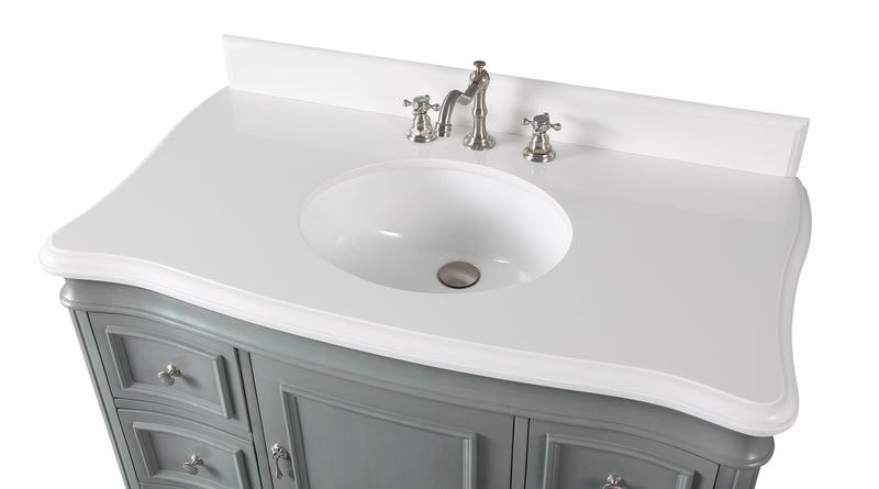 "42"" Benton Collection Modern Style Sesto Grey Bathroom Vanity -  1044CK-QT"