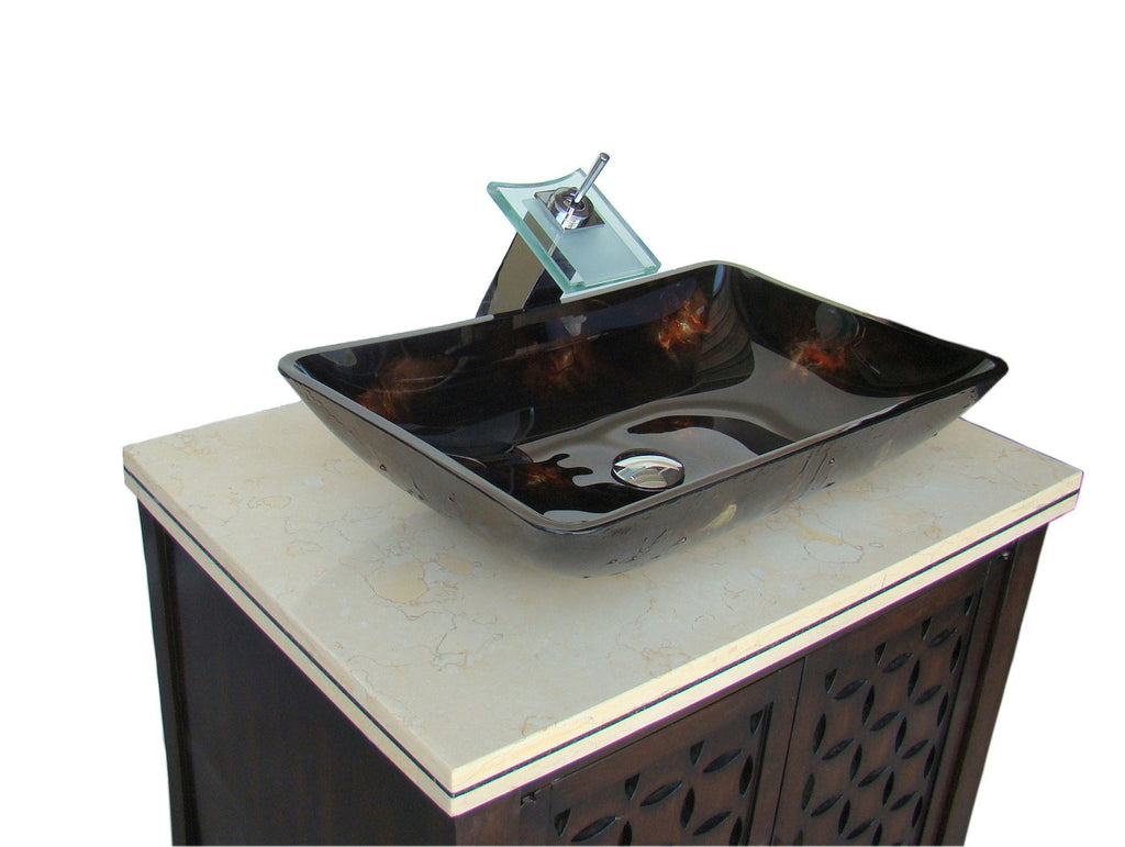 30 Benton Collection Modern Style Vessel Sink Giovanni Bathroom
