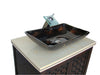 "30"" Vessel Sink Giovanni Bathroom Vanity model # HF339 - Chans Furniture - 3"