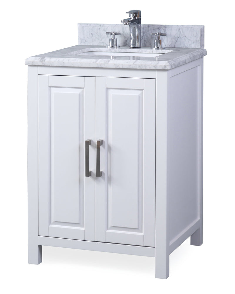 "24"" Tennant Brand Fletcher Contemporary White Bathroom Vanity - ZK-8154A"
