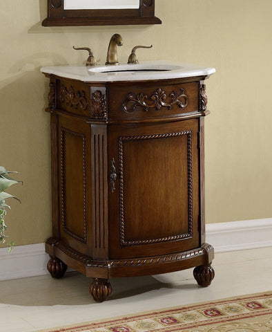 "24"" Powder Room Camelot Bathroom Sink Vanity - BWV-048W - Chans Furniture - 1"