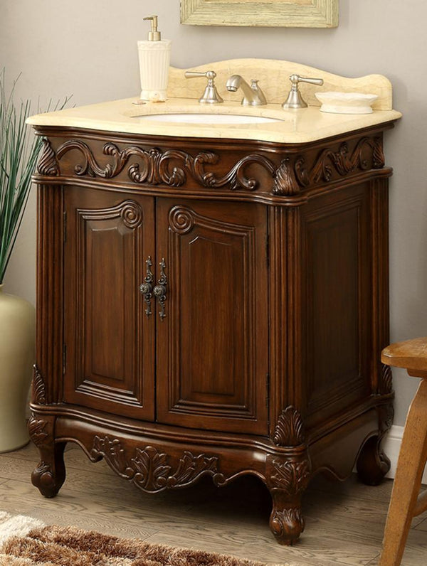 "27"" Petite Powder Romm Hayman Bathroom Sink Vanity model # BC-2917M-TK - Chans Furniture"