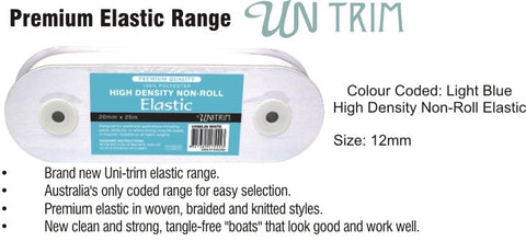 Elastic High Density Non Roll 12mm