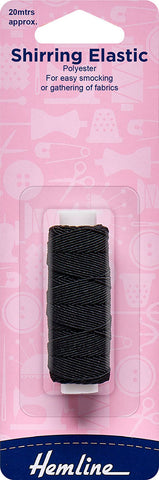 Black Shirring Elastic