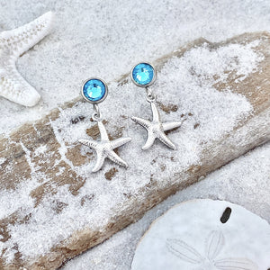 Crystal Stud Starfish Earrings