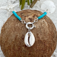 Load image into Gallery viewer, Turquoise Shell Charm Necklace