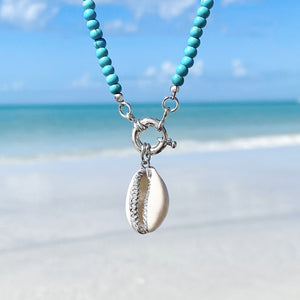 Turquoise Shell Charm Necklace