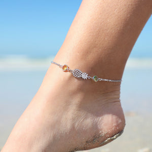 Crystal Pineapple Anklet