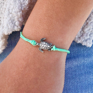 Sea Turtle Wax Coated Bracelet