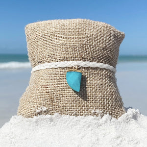 Teal Shark Tooth Bracelet