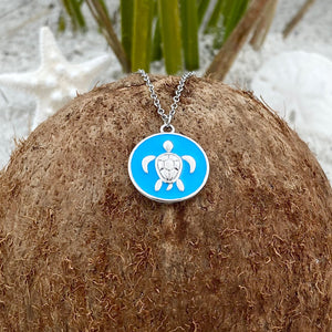Enamel Sea Turtle Necklace