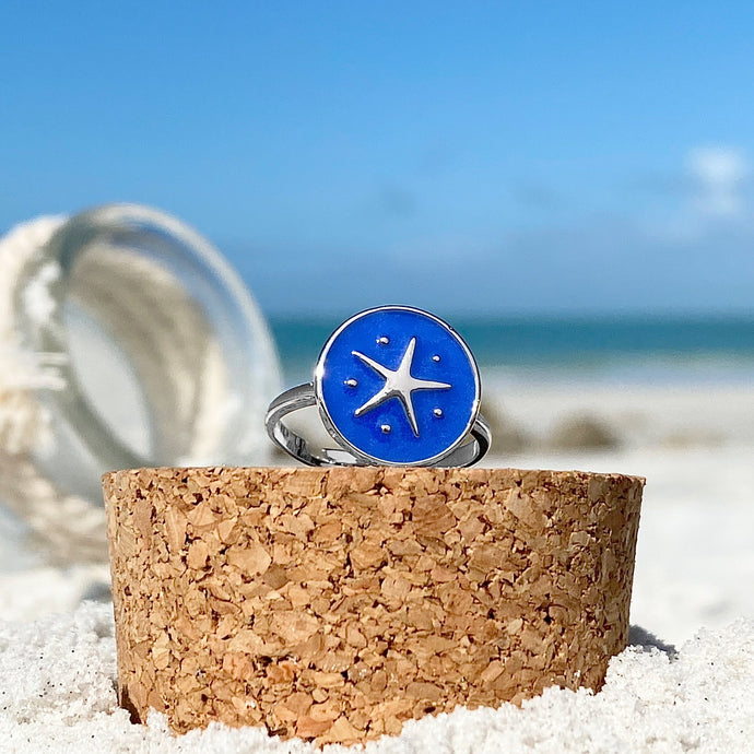 Enamel Starfish Ring