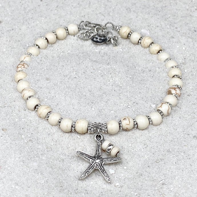 Ivory Turquoise Starfish Anklet
