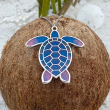 Load image into Gallery viewer, Colorful Enamel Sea Turtle Necklace