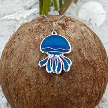 Load image into Gallery viewer, Colorful Enamel Jellyfish Necklace