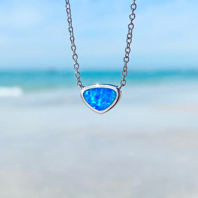 Window into the Ocean Blue Opal Necklace