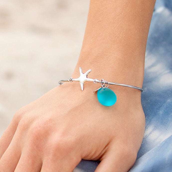 Sea Glass Starfish Bracelet