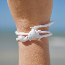 Load image into Gallery viewer, All White Rope Sea Turtle Bracelet