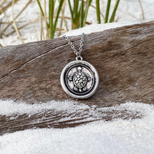 Load image into Gallery viewer, Wax Seal Sea Turtle Necklace