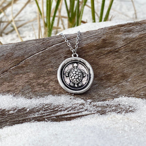 Wax Seal Sea Turtle Necklace